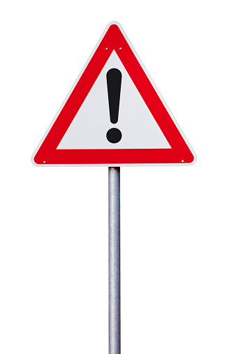 traffic sign with exclamation mark