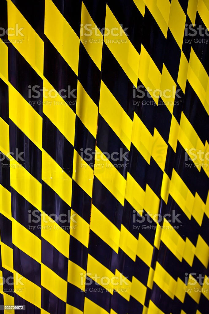 danger warning wign no entry police cordon tape safty area stock