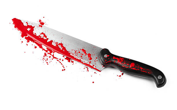Danger with Knives stock photo