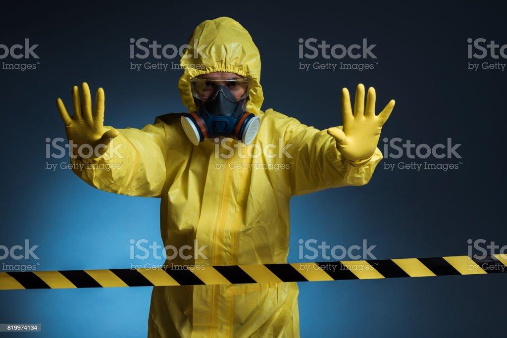 Danger zone stock photo