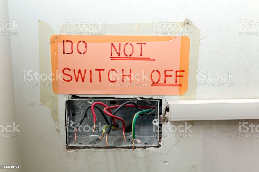 Dangerous and Poor Quality Electrical Work royalty free stockfoto