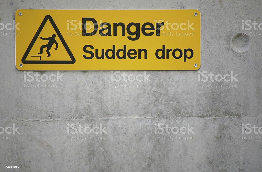 Dangerous area or financial warning? royalty-free stock photo