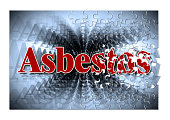 Dangerous asbestos text - concept image in jigsaw puzzle shape