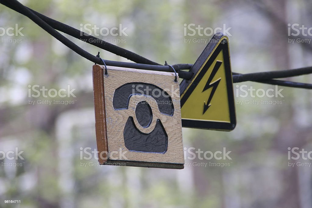 dangerous call signs royalty-free stock photo