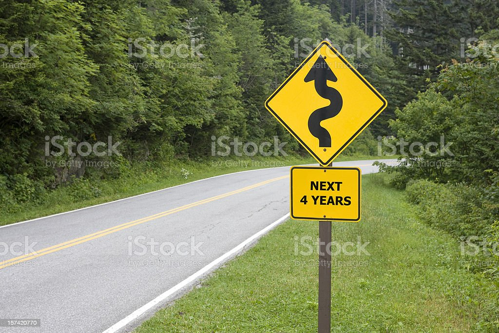 Dangerous Curves Ahead! royalty-free stock photo