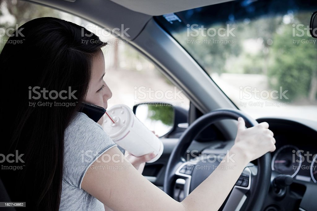 Dangerous driver royalty-free stock photo