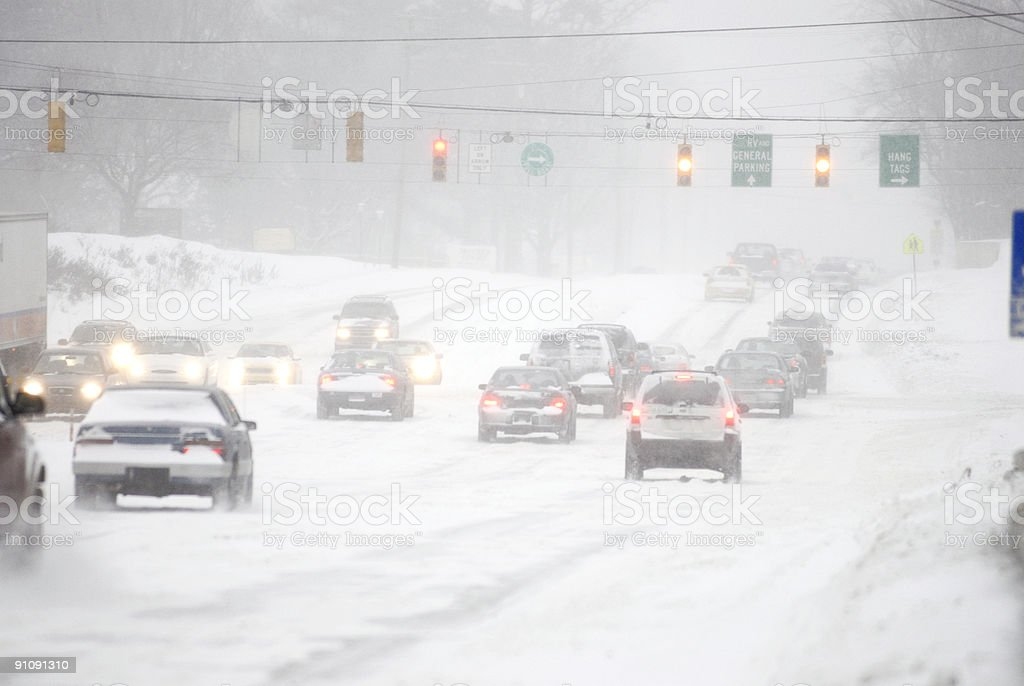 Dangerous driving conditions royalty-free stock photo