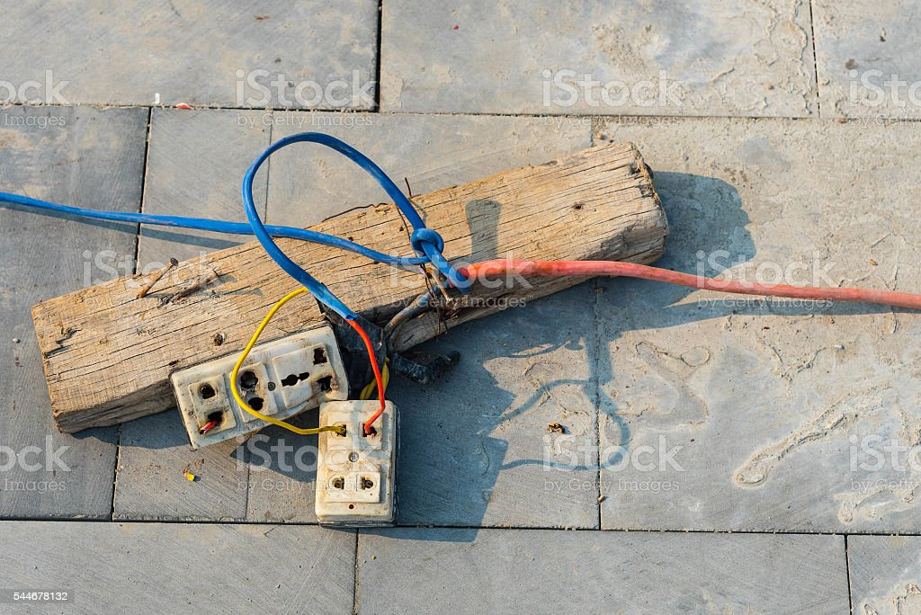 dangerous electrical wiring stock photos dangerous electrical wiringdangerous electrical connection stock photo \\u0026 more pictures of asiadangerous electrical connection stock image