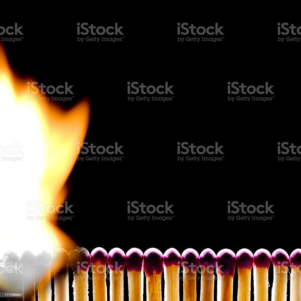 Dangerous energy (match - a metaphor) royalty-free stock photo