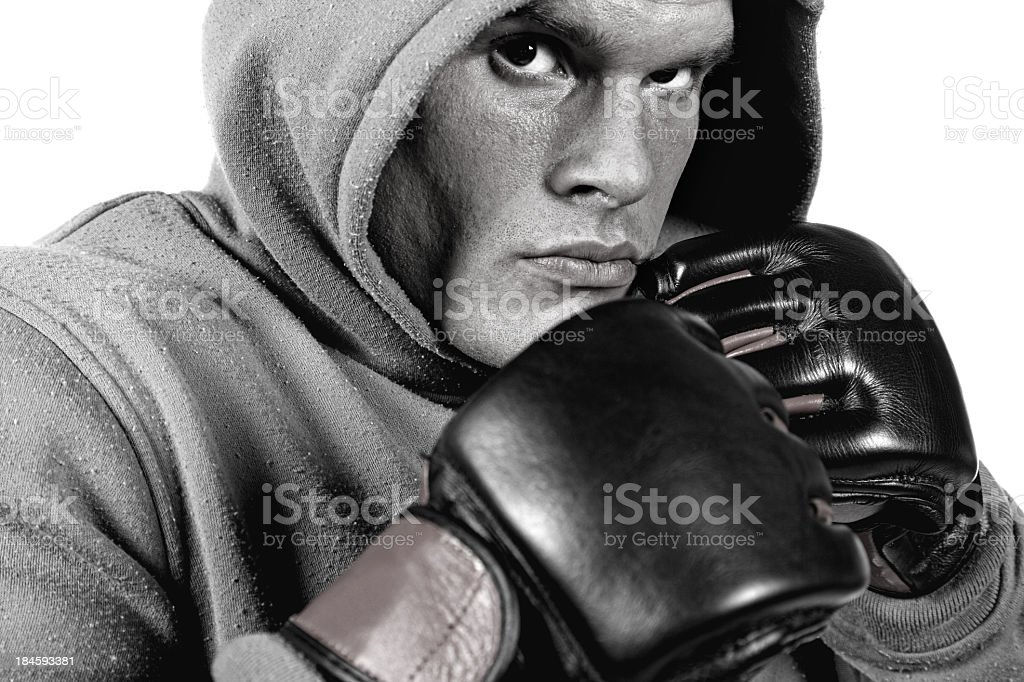Dangerous fighter royalty-free stock photo