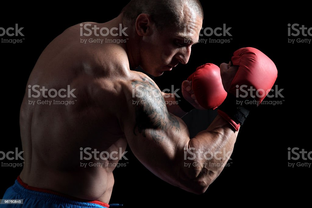 Dangerous fighter portrait royalty-free stock photo