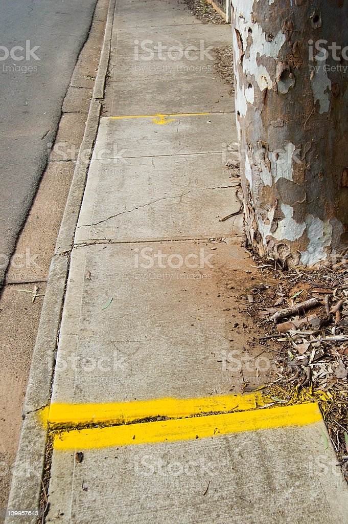 Dangerous Footpath stock photo