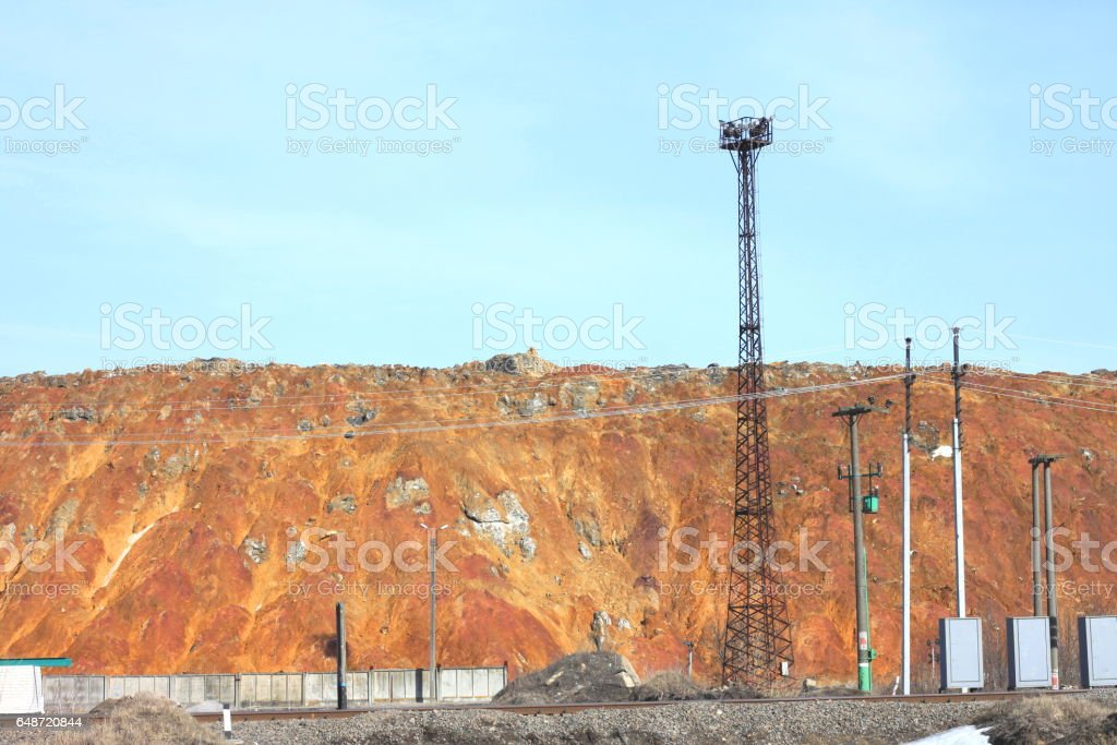 Dangerous for environment industrial chemical waste stock photo