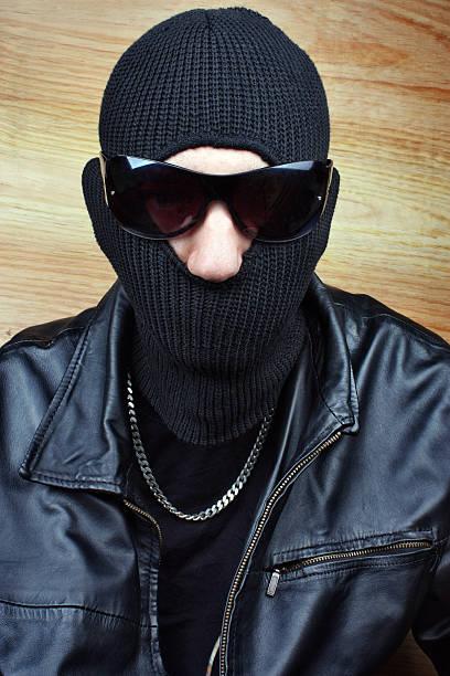 Dangerous gangster stock photo