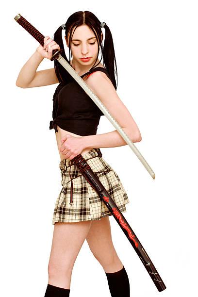 Gefährliche Mädchen mit Schwert – Foto