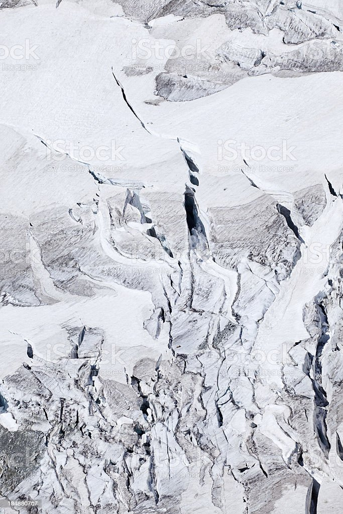 Dangerous glacier stock photo