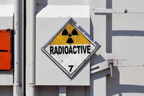 Dangerous goods - Radioactive substances stock photo