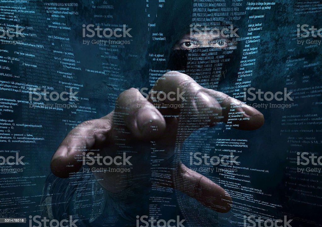 dangerous hacker stealing data -concept dangerous hacker stealing data -concept Accessibility Stock Photo