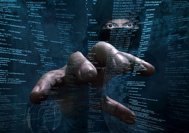 dangerous hacker stealing data -concept - hacker stock photos and pictures
