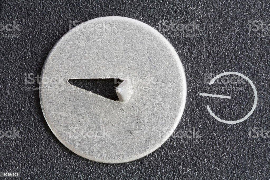 Dangerous load button royalty-free stock photo