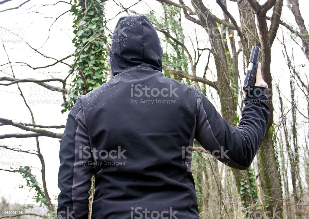 Dangerous man stock photo