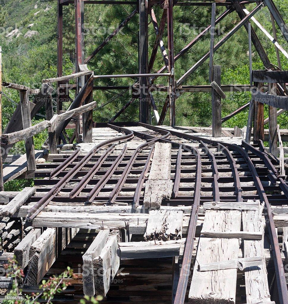 Dangerous Mine Dump stock photo