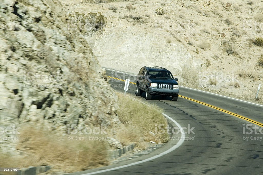 Dangerous Mountain Road royalty-free stock photo