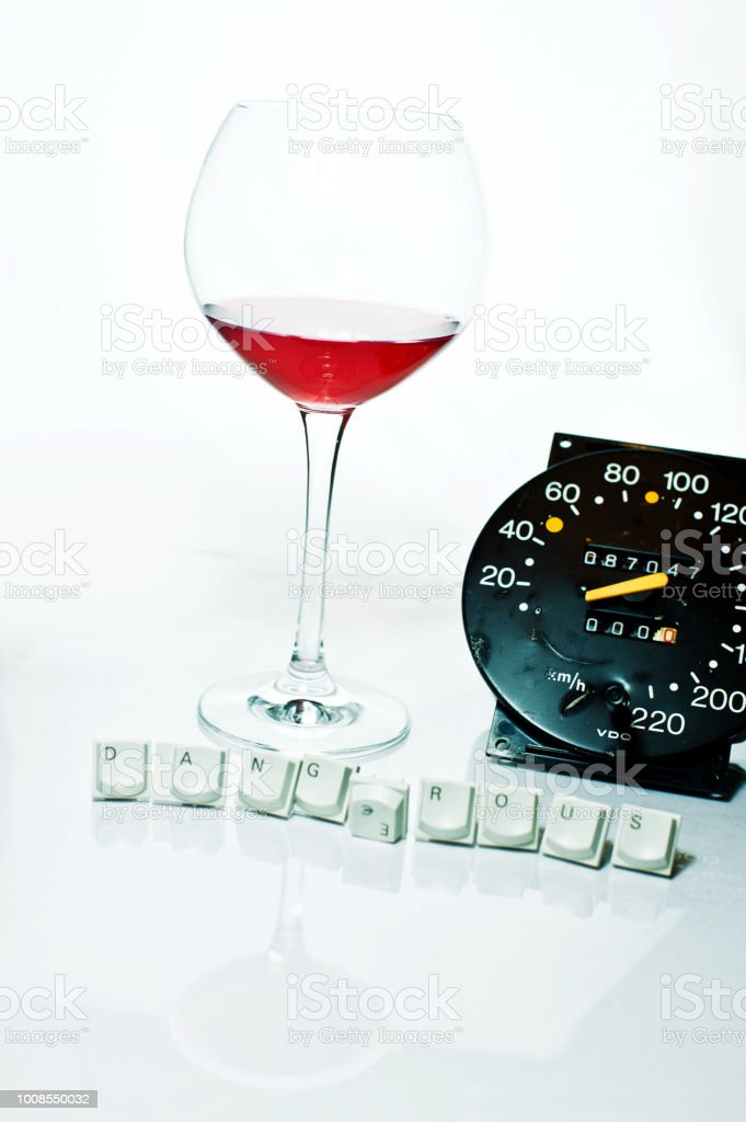 Dangerous! - No To Hard Drugs, Alcohol Abuse And Driving Under The Influence (DUI) stock photo