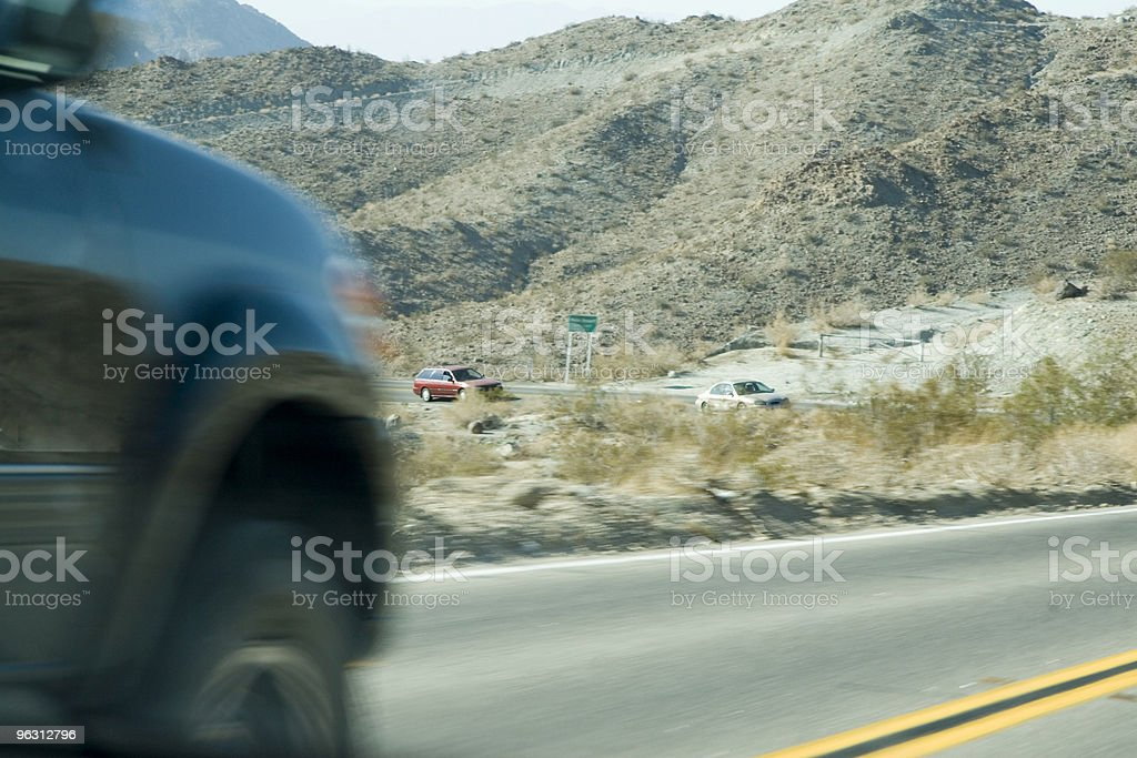 Dangerous Pass on a Double Yellow royalty-free stock photo