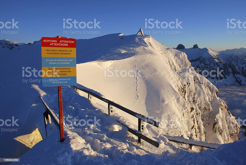 Dangerous path royalty-free stock photo