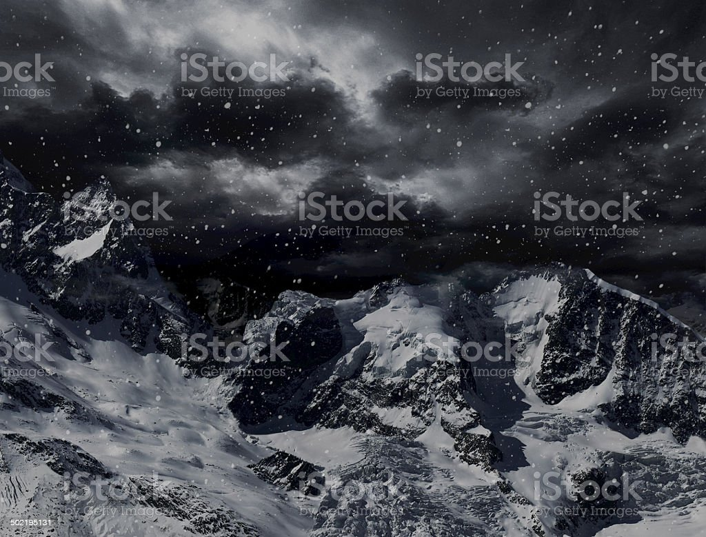 Dangerous peaks stock photo