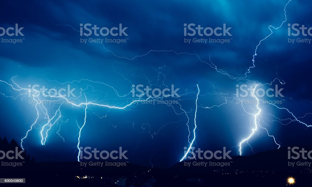 dangerous power of nature stock photo