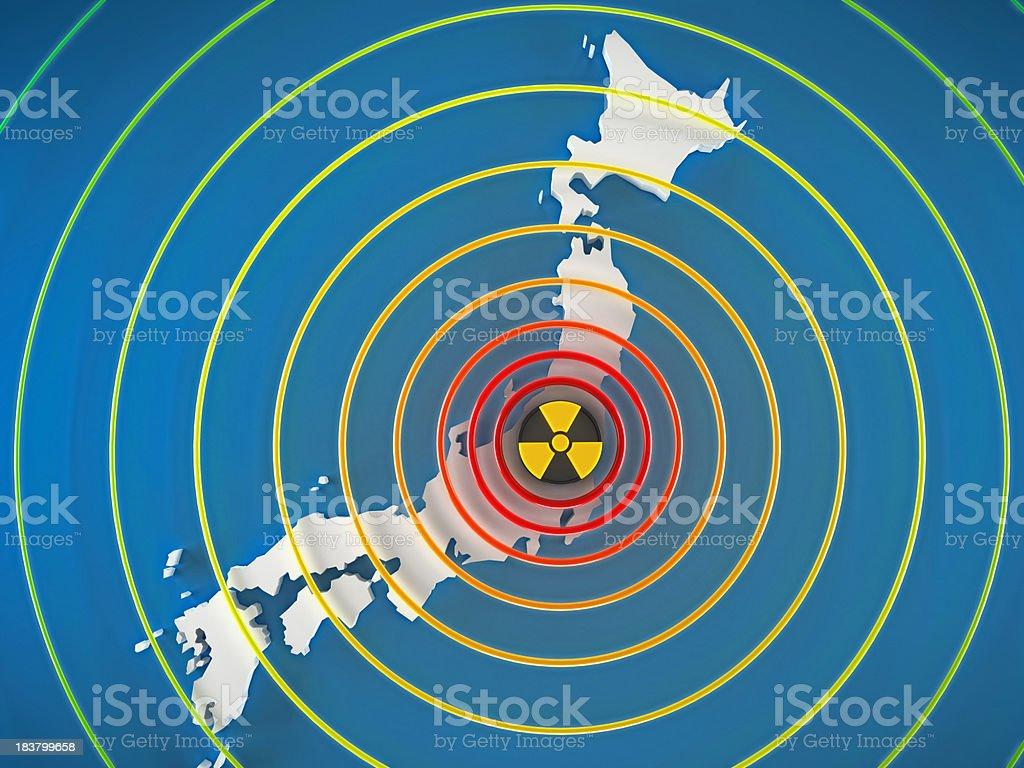 Dangerous radiation levels in Japan stock photo