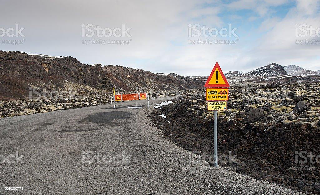 Dangerous road driving royalty-free stock photo