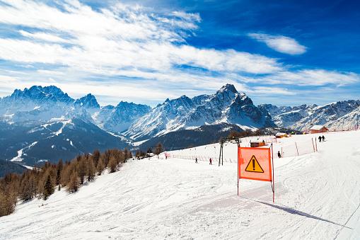 Dangerous ski run