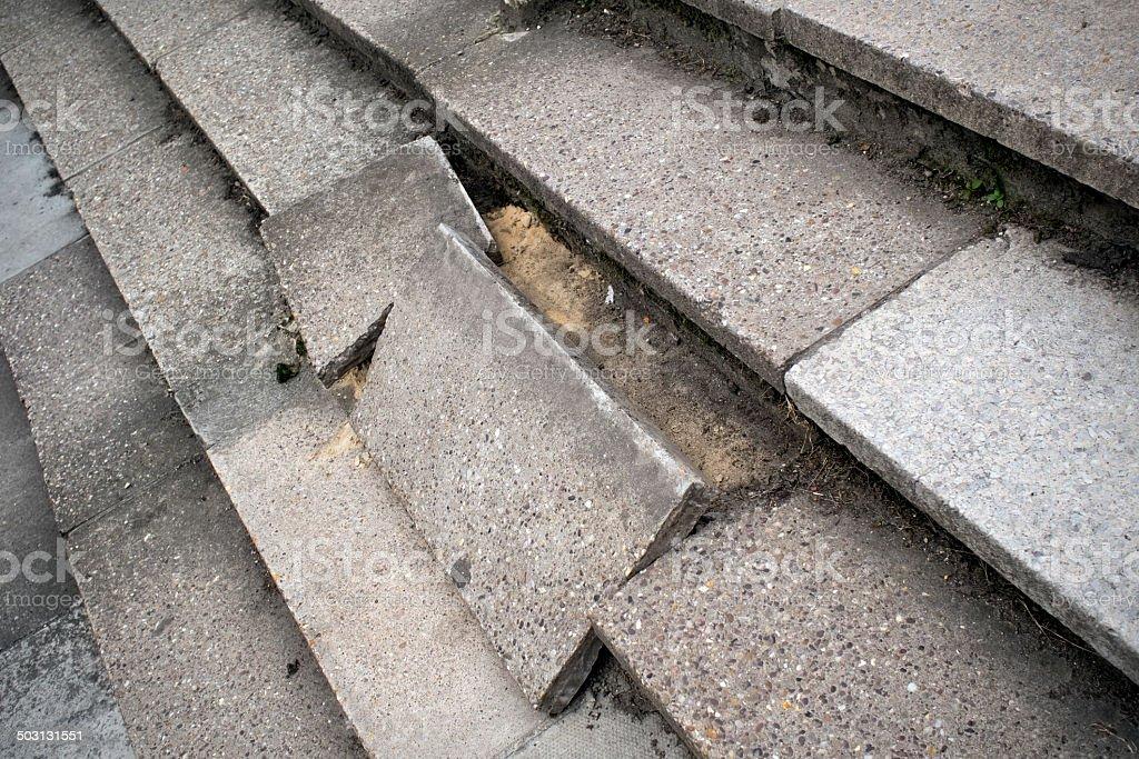 Dangerous stone steps royalty-free stock photo