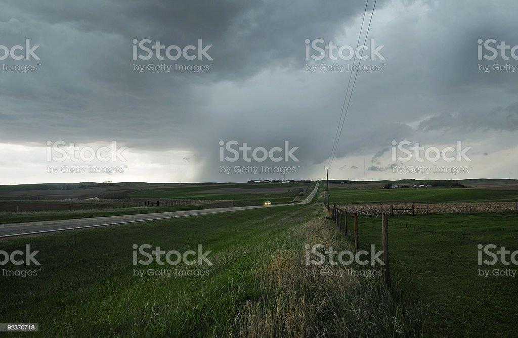 Dangerous storm on the plains stock photo