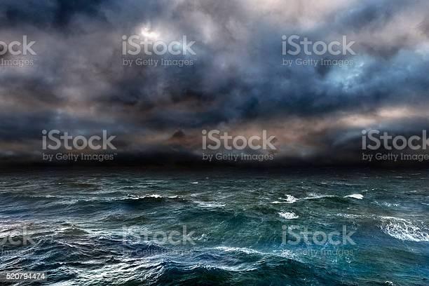 Photo of Dangerous storm over ocean