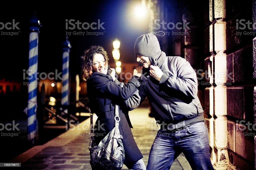 Dangerous street. Aggression stock photo