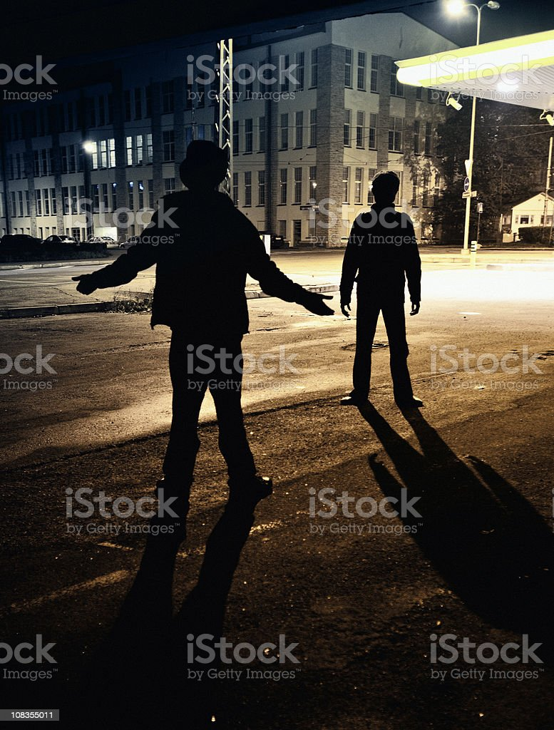 dangerous streets stock photo