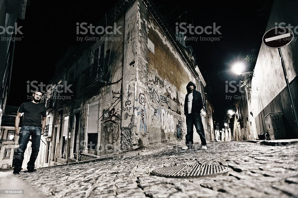 dangerous streets royalty-free stock photo