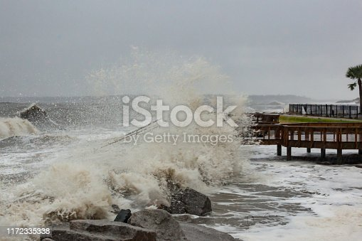 Hurricane Dorian causes dangerous surf along the beaches of Coastal Georgia.