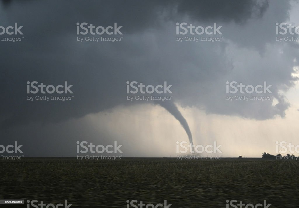 Dangerous Tornado on the Plains stock photo