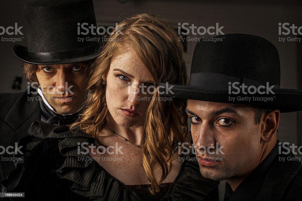 Dangerous Trio royalty-free stock photo