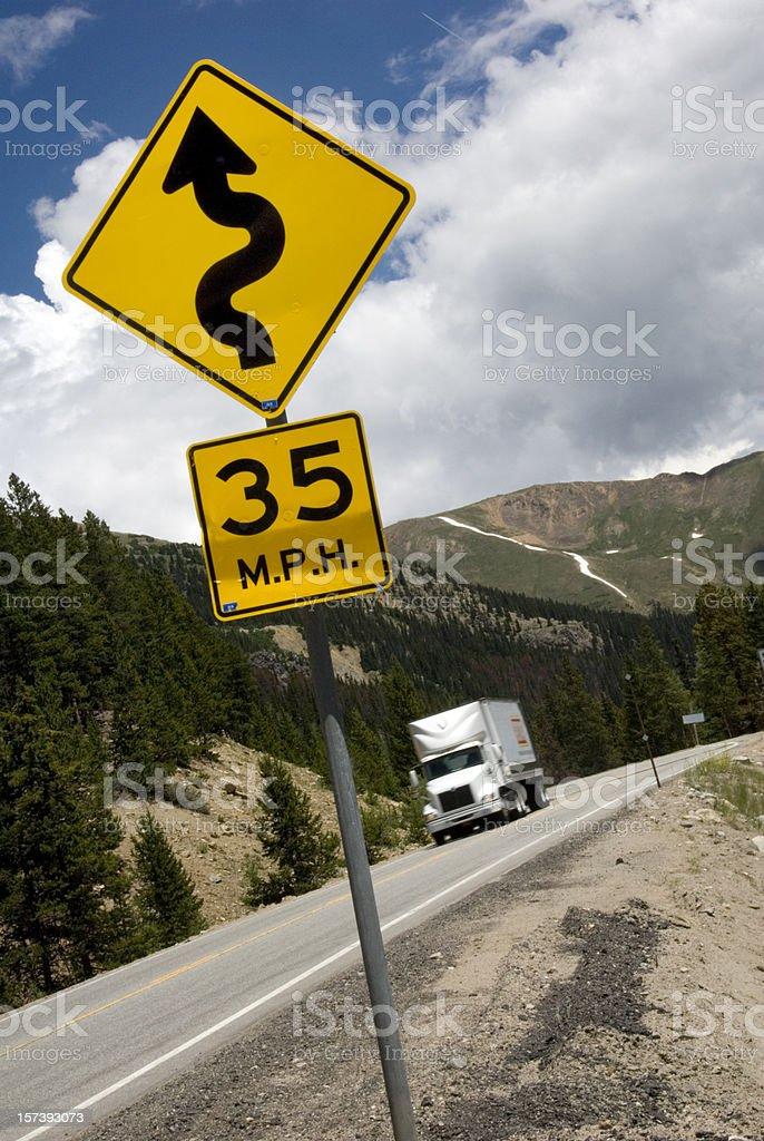 Dangerous Turn! royalty-free stock photo