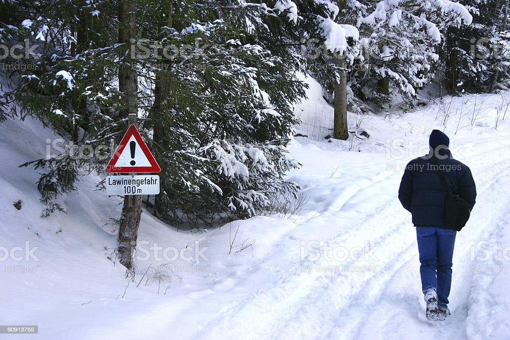 Dangerous walk royalty-free stock photo