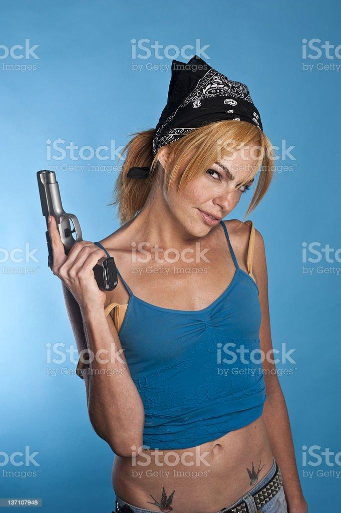 Dangerous woman royalty-free stock photo