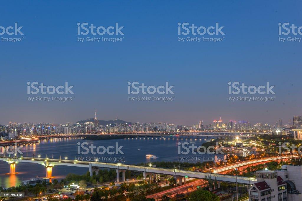 dangsan city skyline, seoul, korea - Foto stock royalty-free di Affari