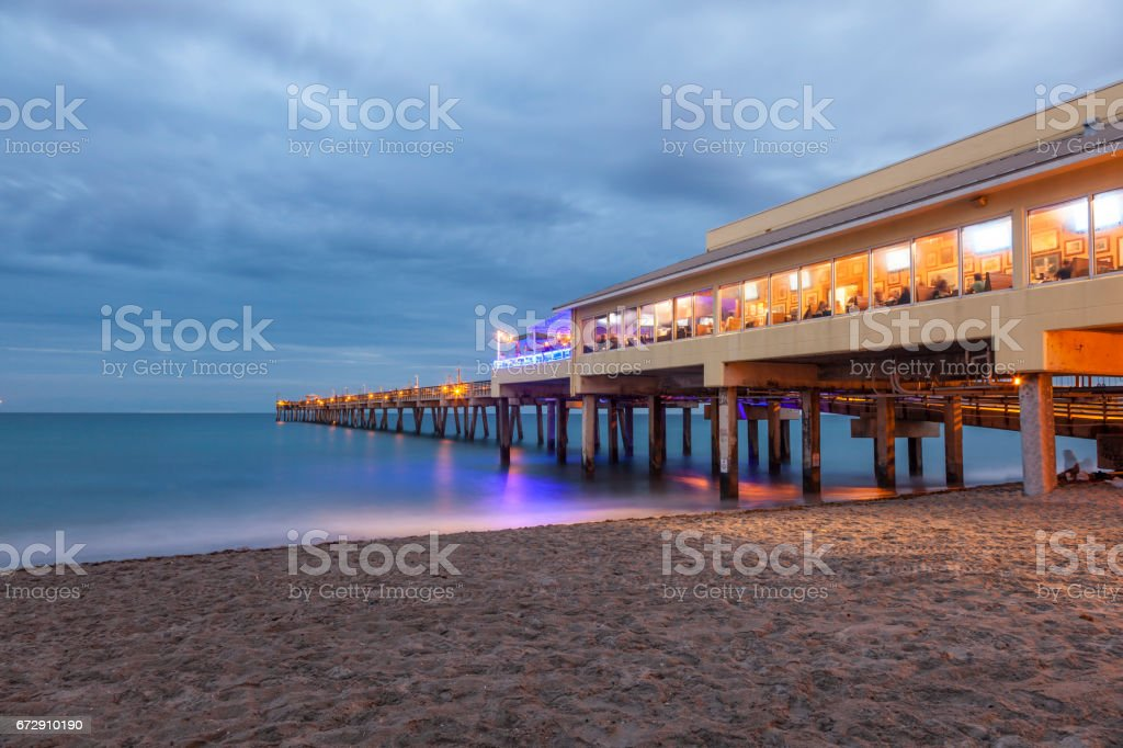 Dania Beach Fishing Pier Hollywood Beach Florida Stock Fotografie