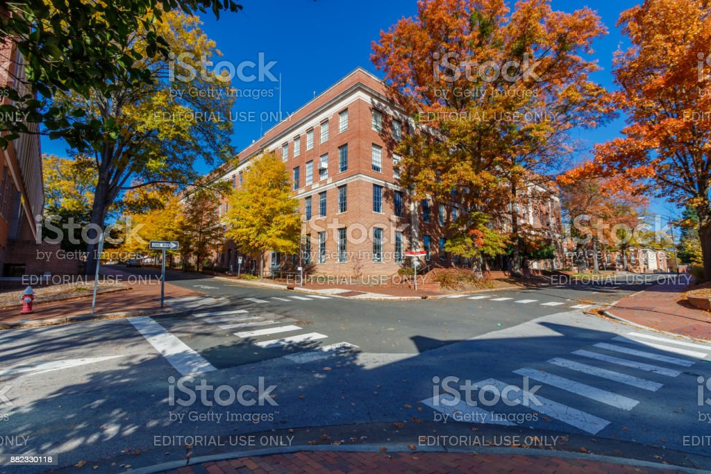 Daniels Hall at NC State University stock photo